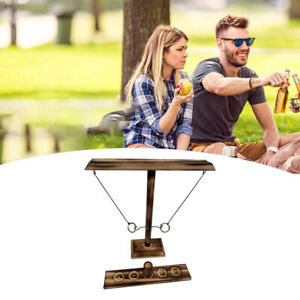 Ring Toss Games Outdoor Indoor Party Game Toys for Kids Adults Black Wood