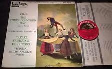 FRUHBECK DE BURGOS FALLA THE THREE-CORNERED HAT LP HMV ASD 608 SEMI-CIRCLE ED1
