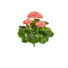 Geranium Bush Artificial Silk Upright 23cm Pink Hanging Basket Window Box