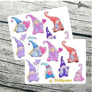 Valentine gonk, valentine gnomes, stickers, love planner stickers, planner