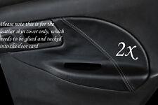 Gris stitch fits SUBARU IMPREZA la compagnie montréalaise 2x bordure Porte Arrière carte couvre en cuir