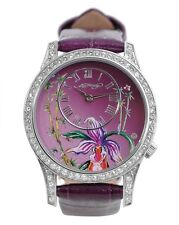 ED HARDY BY CHRISTIAN AUDIGIER ELIZABETH EL-PU LADIES CRYSTAL LEATHER WATCH
