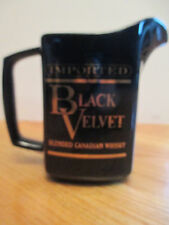 "Vintage Imported BLACK VELVET Blended Canadian WHISKEY  5.5"" Ceramic Pitcher Mug"
