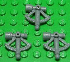 Lego - 3 x sextant gris oscuro/Dark bluish Gray sextant/mercancía nueva 30154