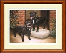 STAFFORDSHIRE BULL TERRIERS print 'Hogan and Dozer' by Lynn Paterson