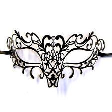 Stunning Black Petite Metal Filigree Venetian Masquerade Mask Elise Eyemask