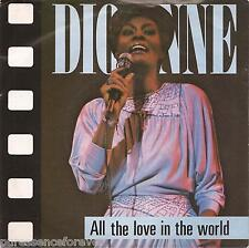 """DIONNE WARWICK - All The Love In The World (UK 2 Tk 1982 7"""" Single PS)"""