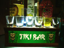 TIKI BAR Lighted shot glass or liquor bottle display shelf