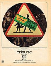 PUBLICITE ADVERTISING 1965   PRISUNIC   LUSTRAN    fournitures scolaires