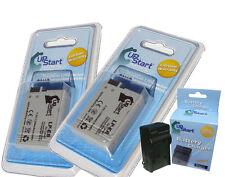 2x LP-E8 LPE8 Battery + Charger CANON EOS 550D Rebel T2i LC-E8 E8E Kiss X4