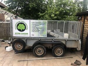 ifor williams trailer Full-Size Tailgate Ramp Mesh Sides 10 X 5 Foot Twin Wheel