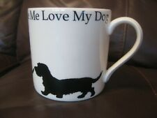 VICTORIA ARMSTRONG LOVE ME LOVE MY DOG LONG HAIRED DACHSHUND MUG