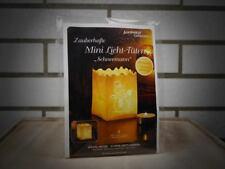 4 Luminaria Lichttüten mit Motiv Schneemann | Tisch Dekoration | Weihnachten