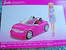 "2018 Mattel ""Barbie Doll & Convertible Car"" ~ BRAND NEW!"