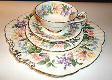 Paragon Tea cup Saucer  Plate Trio High Tea  China Country Lane Teaset flowers