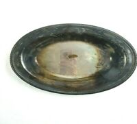 International Silver Co. Oval Dish Serving Bowl Silverplate Silvertone Tray Meal