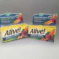 Nature's Way Alive! Men's 50+ Multi-Vitamin Tablets, 50 Ct 2PK Exp 12/20+