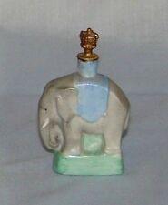 German CROWN TOP Porcelain ELEPHANT PERFUME / SCENT BOTTLE ~ Vintage/Antique