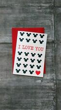 Disney valentines card, valentines card, mickey mouse card, love card