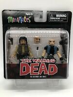 NEW THE WALKING DEAD COMIC SERIES MINIMATES FIGURES THE GOVERNOR AND BRUCE 2013