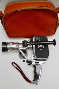 BOLEX Paillard C8 SL 8mm Camera with SOM BERTHIOT 10-30mm f/2.8 PAN-CINOR, Case