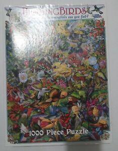 White Mountain - 1000pc Jigsaw Puzzle - HUMMINGBIRDS - EUC