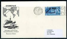 GB 1963 COMPAC (SG 645) SOUVENIR FIRST DAY COVER - CAMBRIDGE FDI ENVELOPE SLOGAN