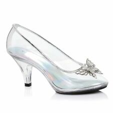 Clear Glass Slippers Cinderella Shoes Wedding Princess Bridal Heels size 8 9 10