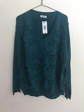 Matalan Soon Green And Lace Jumper Brand New Size 20