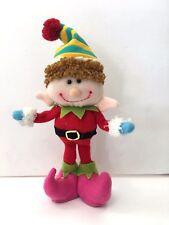 "Kurt Adler 9"" Standing Elf Red Hat Plush Christmas Tree Ornament Boy D2370 Santa"