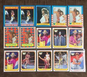 WWF Card lot Macho Man Randy Savage (×15) Merlin Topps WWE rare