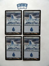 Snow-Covered Island X4 Coldsnap *EX/VG/VG-* Magic the Gathering MTG! L