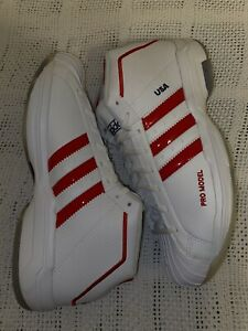 Men's Adidas Pro Model 2G SM USA Basketball White/Red FX4469 Unreleased Size 12