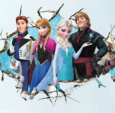 Large Disney Frozen Wall Stickers Princess Elsa Anna Olaf Girls Bedroom UK STOCK