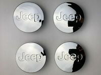 Set of 4 JEEP Chrome Mirror Alloy Wheel Hub Centre Caps 56mm