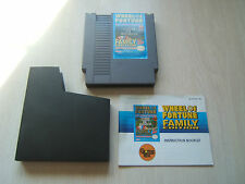 Classic Nintendo Wheel of Fortune Cartridge & Booklet, Untested