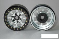 "SSD 1.9"" Steel Trail Beadlock Wheels SILVER SSD00079 Black Ring 6 lug Wheel Hex"