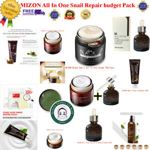MIZON All In One Snail Repair budget pack Clear Revitalize Ampoule+Cleanser+BB