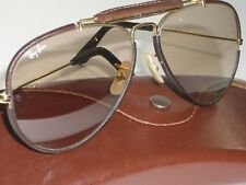 58[]14 B&L RAY BAN BROWN PHOTOCHROMIC CHANGEABLES LEATHERS OUTDOORMAN SUNGLASSES