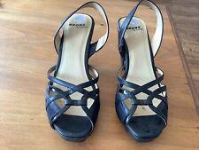 Vintage Bronx black leather platform sandals size 6
