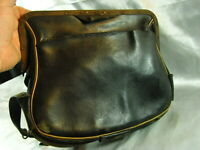 ANCIENNE SACOCHE BOURSE CUIR METIER COMMERCANT MEDECIN POSTIER SAC BAG LEATHER