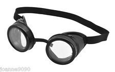 Biggles Mad Scientist Steampunk Willy Wonka Goggles Fancy Dress Costume Glasses