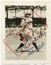 8.5x11 Autographed Signed Reprint RP Photo Babe Ruth New York Yankees