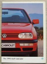 VOLKSWAGEN VW GOLF CABRIOLET Car Sales Brochure For 1995 #420/1190.45.25
