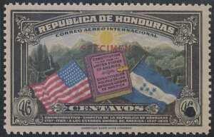 """HONDURAS 1937 FLAG OF USA Sc C84 Sanabria AS185 PERF PROOF """"SPECIMEN"""" MNH VF"""