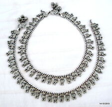 feet bracelet ankle chain pair vintage antique tribal old silver anklet