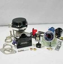 """BLACK WASTEGATE 8+6LB SPRING +DUO SWITCH BOOST CONTROLLER +2"""" LED BOOST GAUGE"""