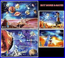 NEVIS 2000 SPACE MARS CONQUEST x2 M/S + 2 S/S SC#1212-15 MNH CV$23.00 ASTRONOMY