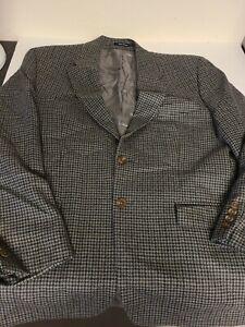 RALPH LAUREN S&K Famous Brands Mens Suit Blazer Jacket Gray 43R 100% Wool EUC