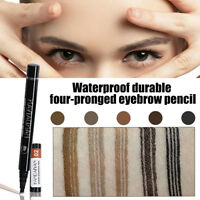 Microblading Tattoo Eyebrow Ink Fork Tip Pen Eye Brow 3D Makeup Pencil 5Colors